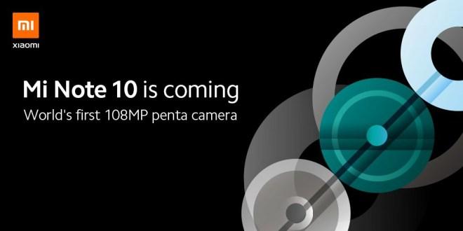 Xiaomi Note 10, mi note 10