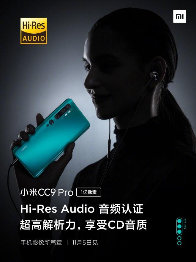 Xiaomi CC9 Pro Hi-Res Audio