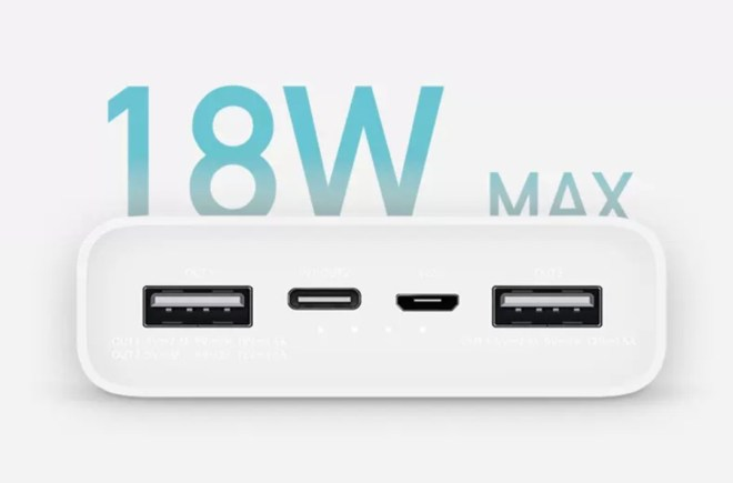 Mi Power Bank 3 USB-C two-way fast charge with 20000mAh capacity 3