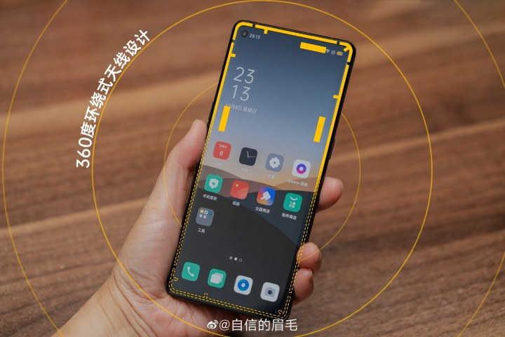 OPPO Reno3 series 360-degree surround antenna design