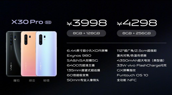 Vivo X30 Pro Price and Specifications, difference between vivo x30 and vivo x30 pro