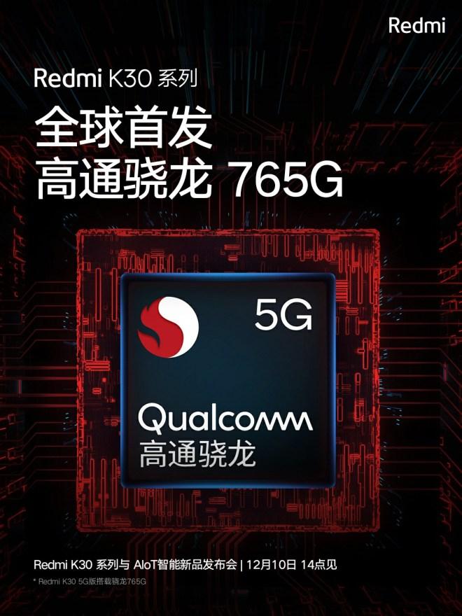 Redmi K30 Processor is Snapdragon 765G