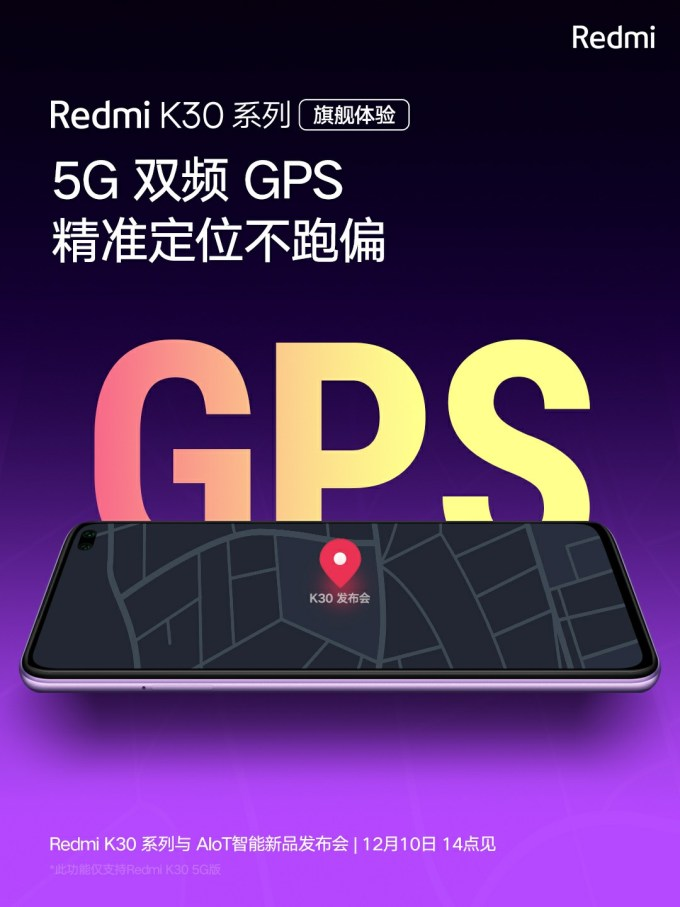 Redmi K30 Dual-frequency GPS
