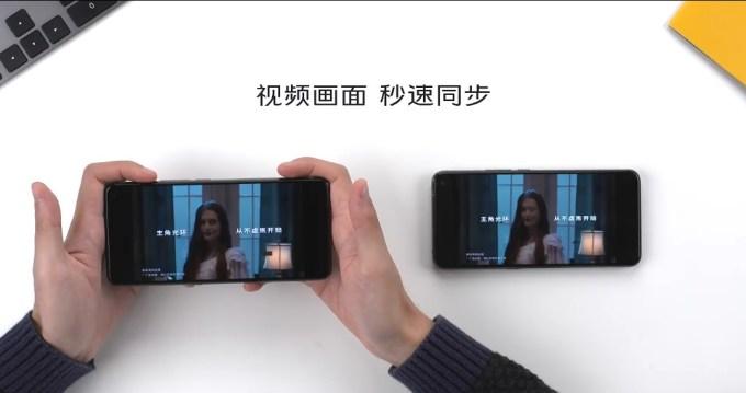 Vivo X30 application sharing