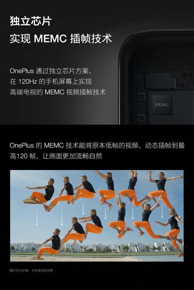 OnePlus 120Hz display Specifications