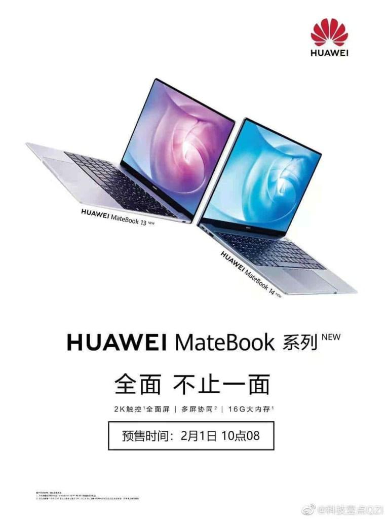 Huawei MateBook 13 2020 vs MateBook 14 2020