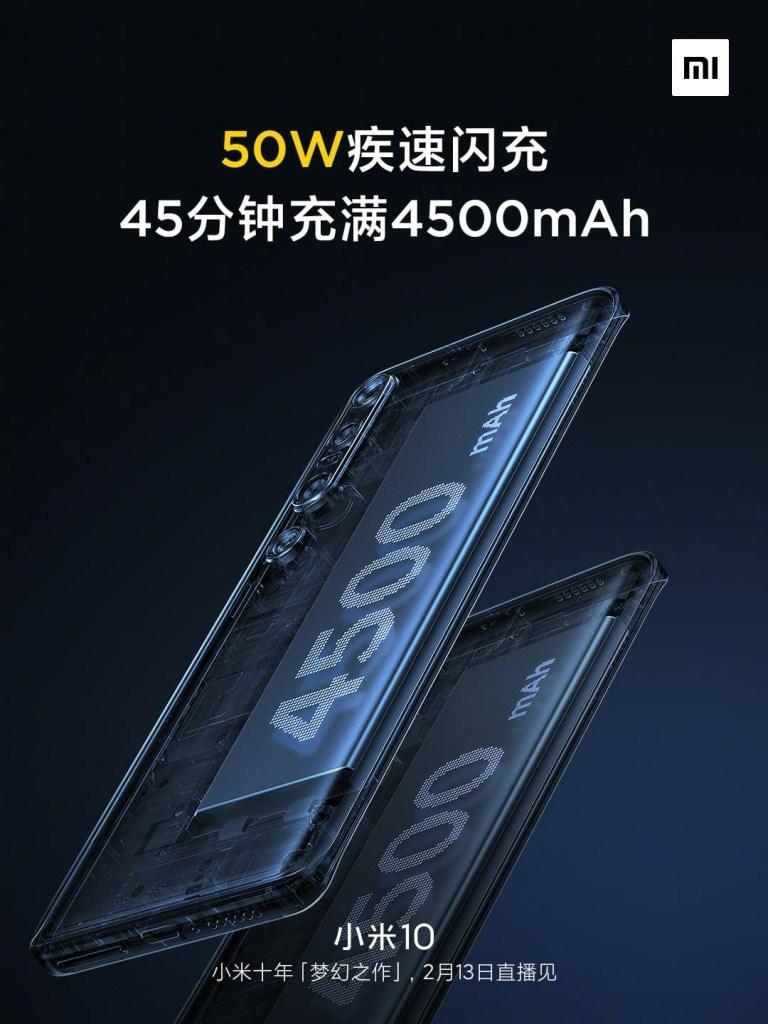 Xiaomi Mi 10 Battery Capacity