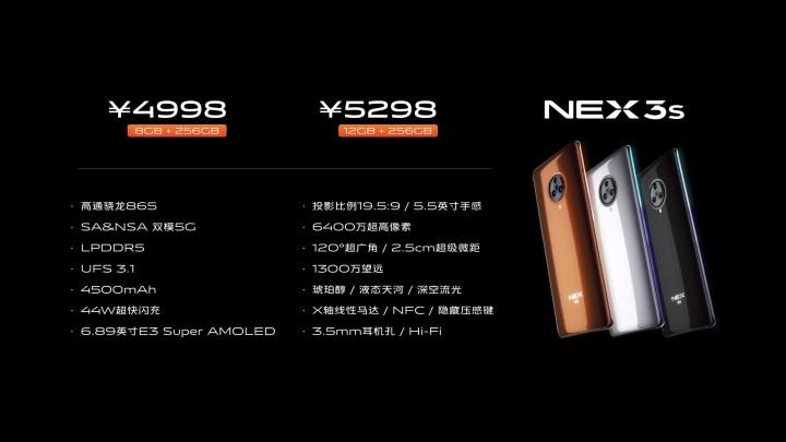 Vivo Nex 3s Price and specifications