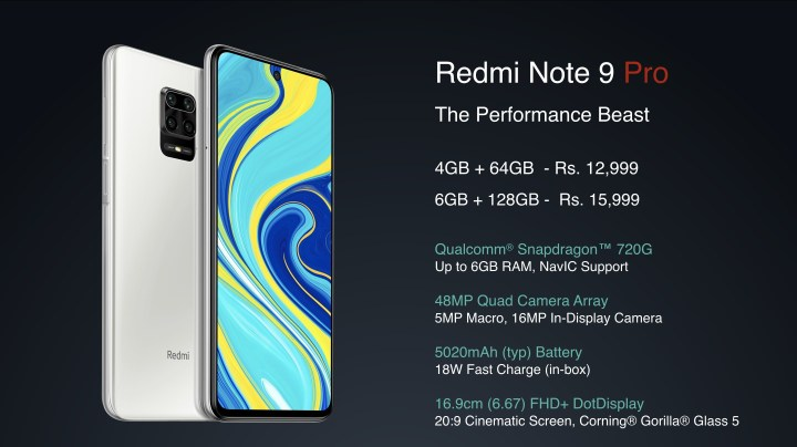 Redmi Note 9 Pro Price and Specification