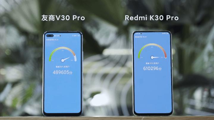 Redmi K30 Pro Antutu Benchmark vs Honor V30 Pro