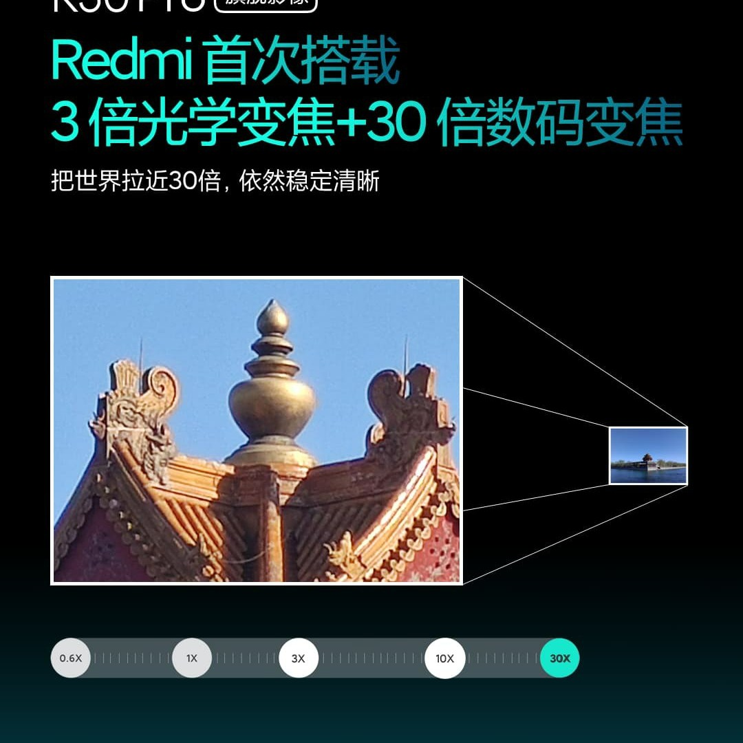 Redmi K30 Pro Zoom Camera Specifications & Sample, Support 8K & 30x Zoom 1