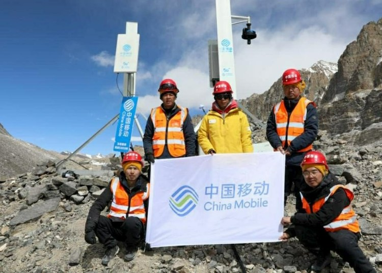 China Mobile Telecom's 5G on Mount Everest