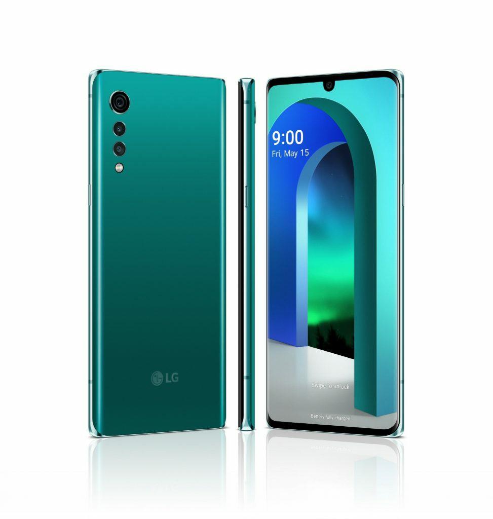 LG Velvet Aurora Green