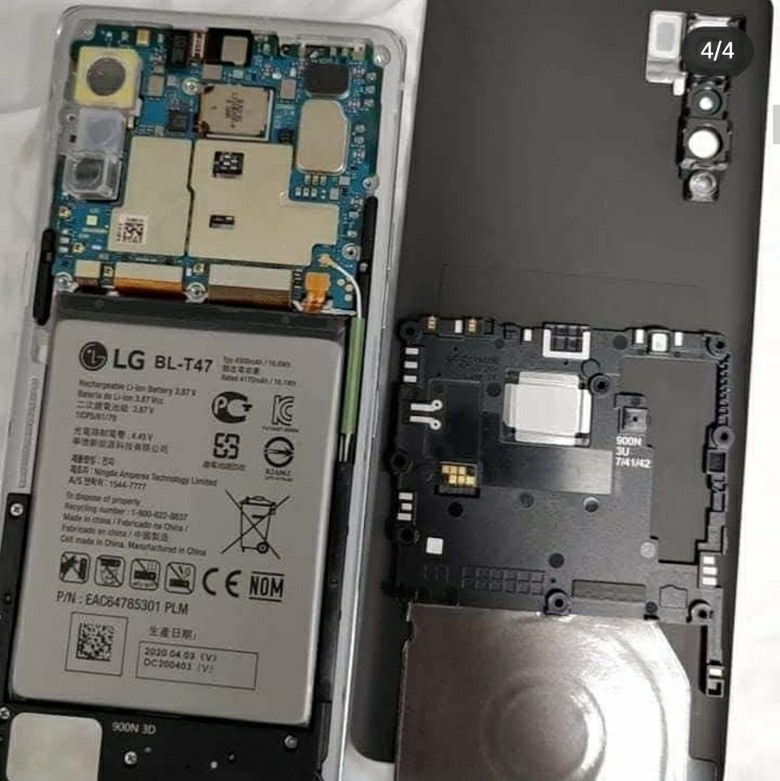 LG Velvet Disassembling photos