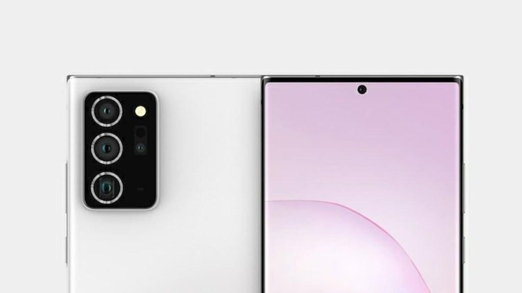 Samsung Galaxy Note 20+ Rendering
