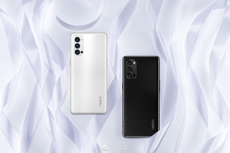 Oppo Reno4 Pro Black color and Oppo Reno4 Pro white color