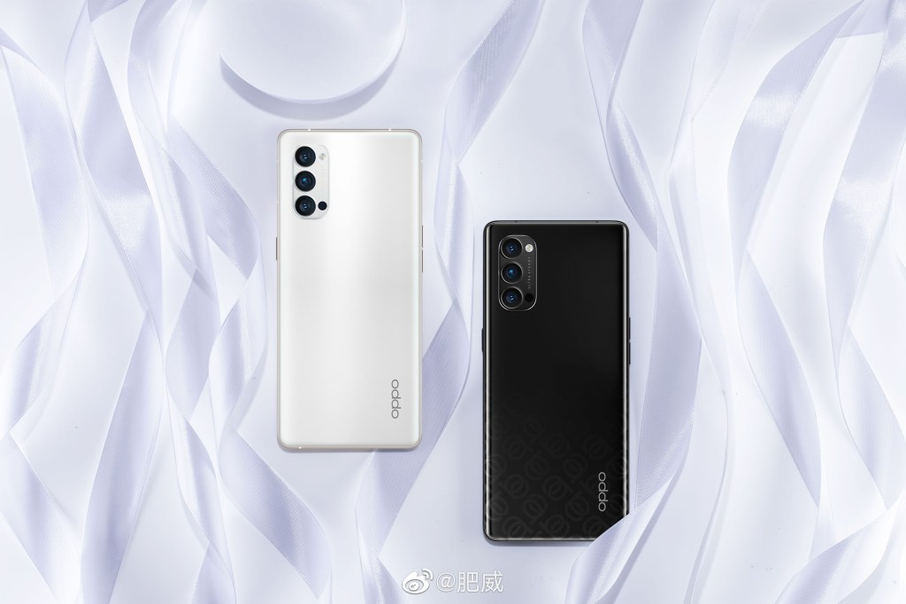 Oppo Reno4 Pro Black color and Oppo Reno4 Pro white color