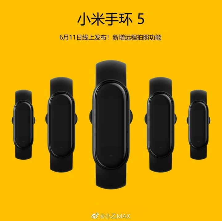 Mi Band 5 release date, Mi Band 5 first look