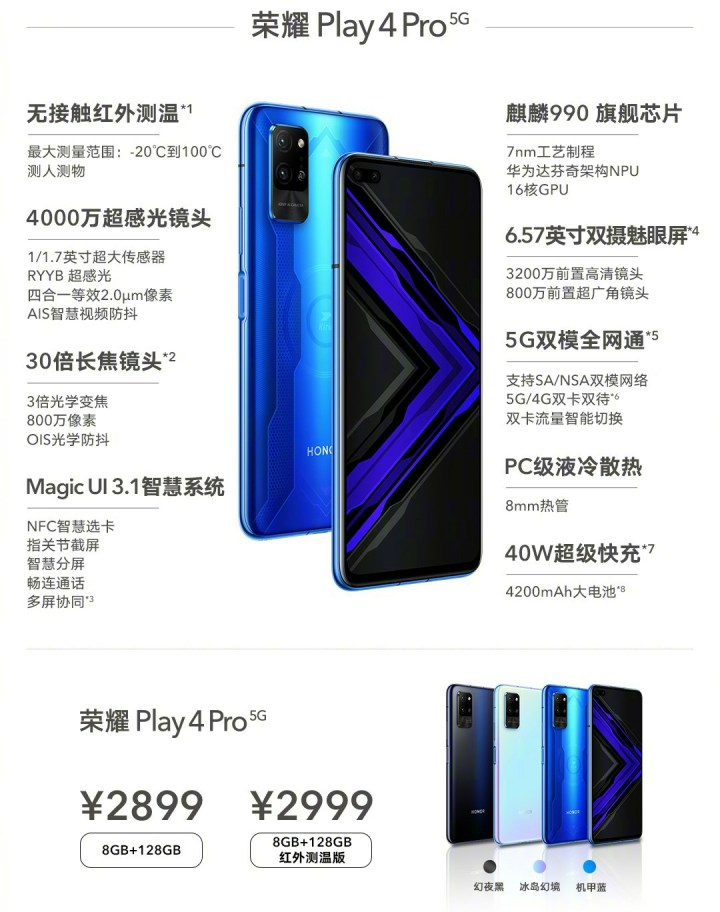 Honor Play4 Pro Price and Specifications