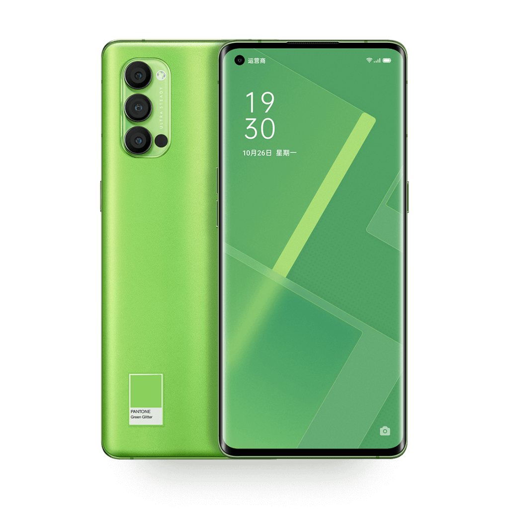 Oppo Reno4 Pro Green Glitter Color