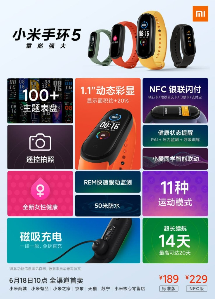 Mi Band 5 Price and Specifications