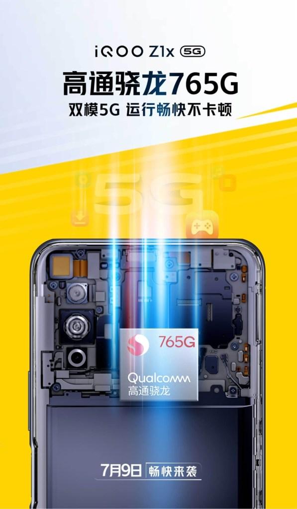 iQOO Z1X with Snapdragon 765G Processor
