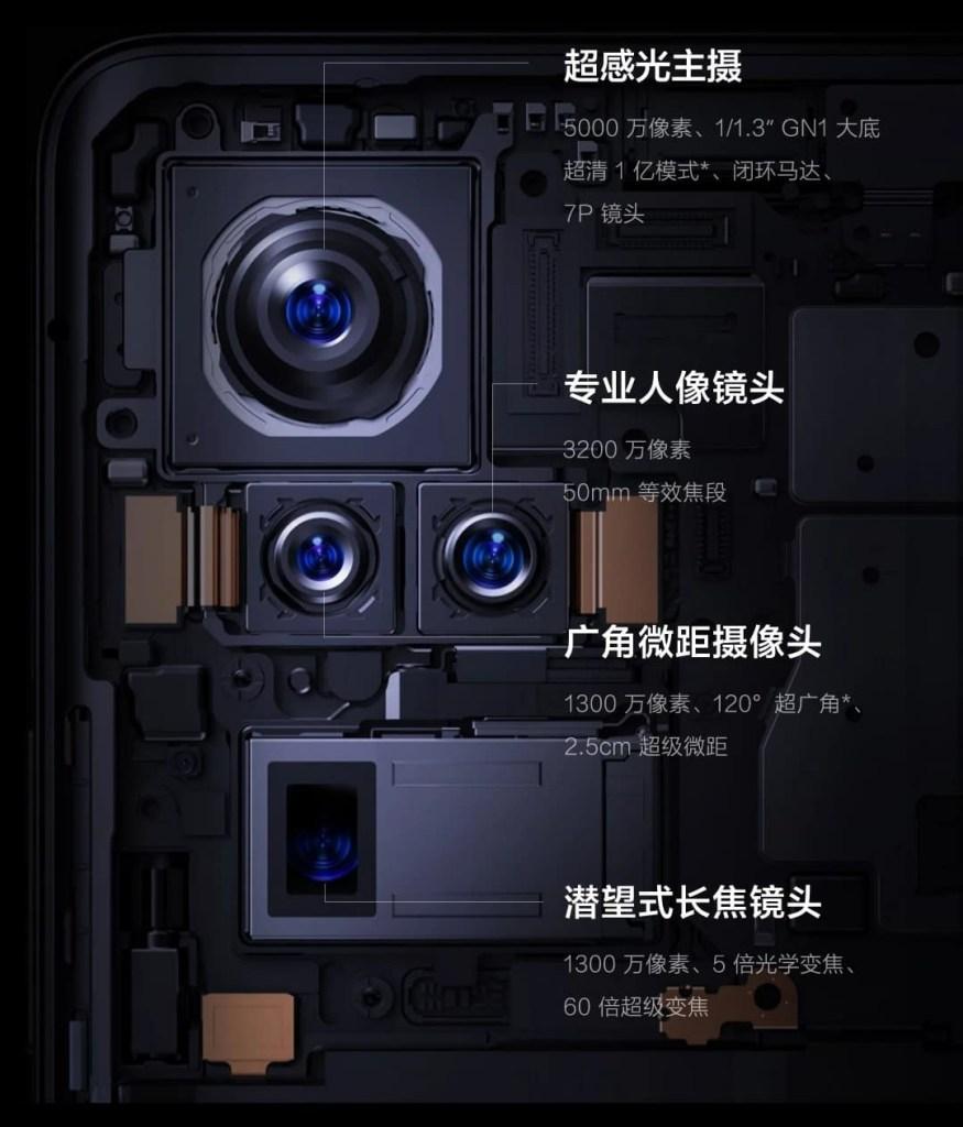 Vivo X50 Pro+ Camera Set-up