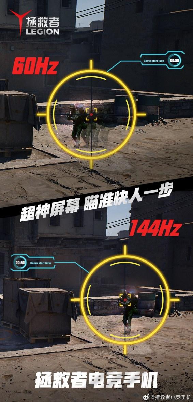 Lenovo Legion Gaming Phone 144Hz Refresh Rate