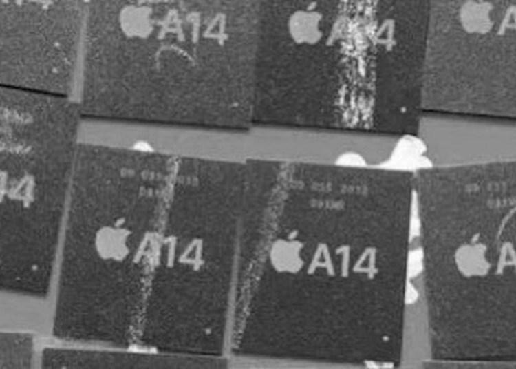 Apple A14 SoC live photo