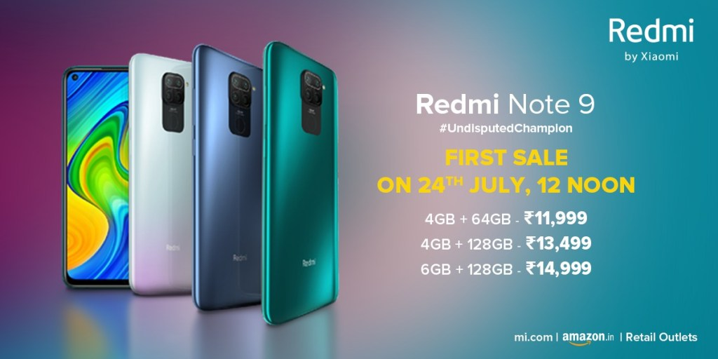 Redmi Note 9 Price in India