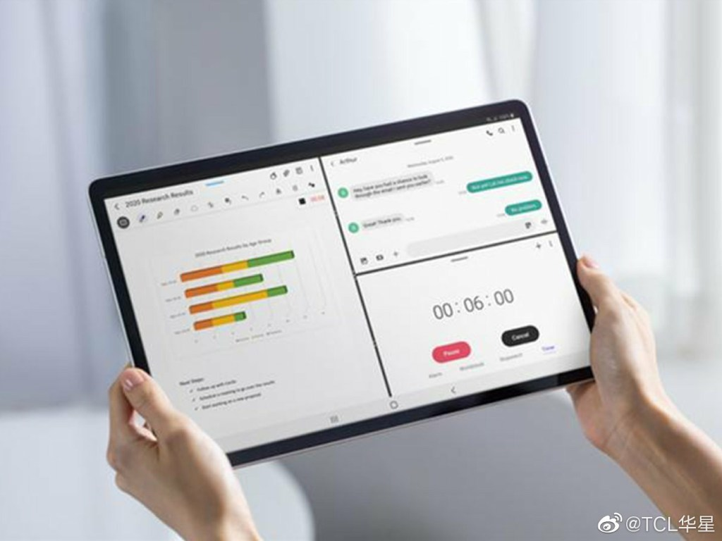 Samsung Galaxy Tab S7 Display Supplied by TCL Huaxing