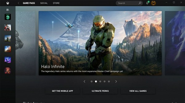 XBOX Series X user interface design