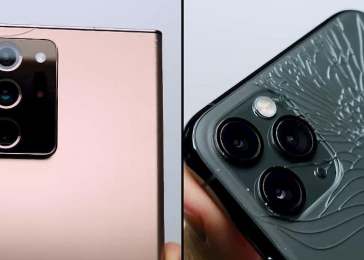 Samsung Galaxy Note 20 Ultra Drop Test vs iPhone 11 Pro Max