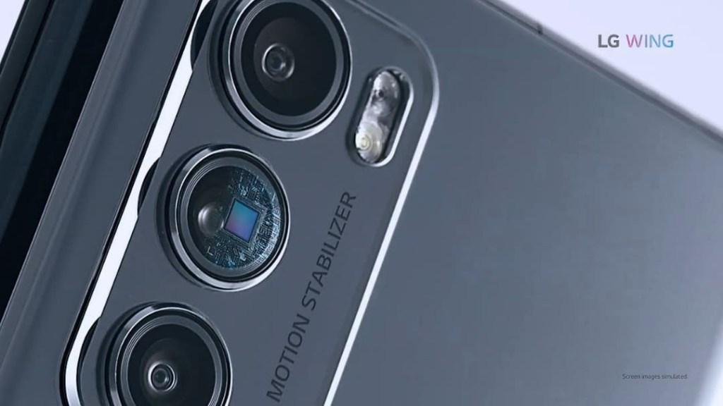 LG Wing 5G Rear camera