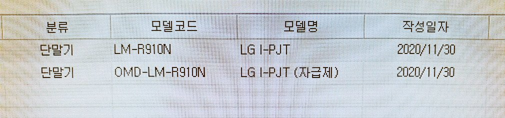LG Rollable Phone with Snapdragon 888 Phone in Korean Carrier Database