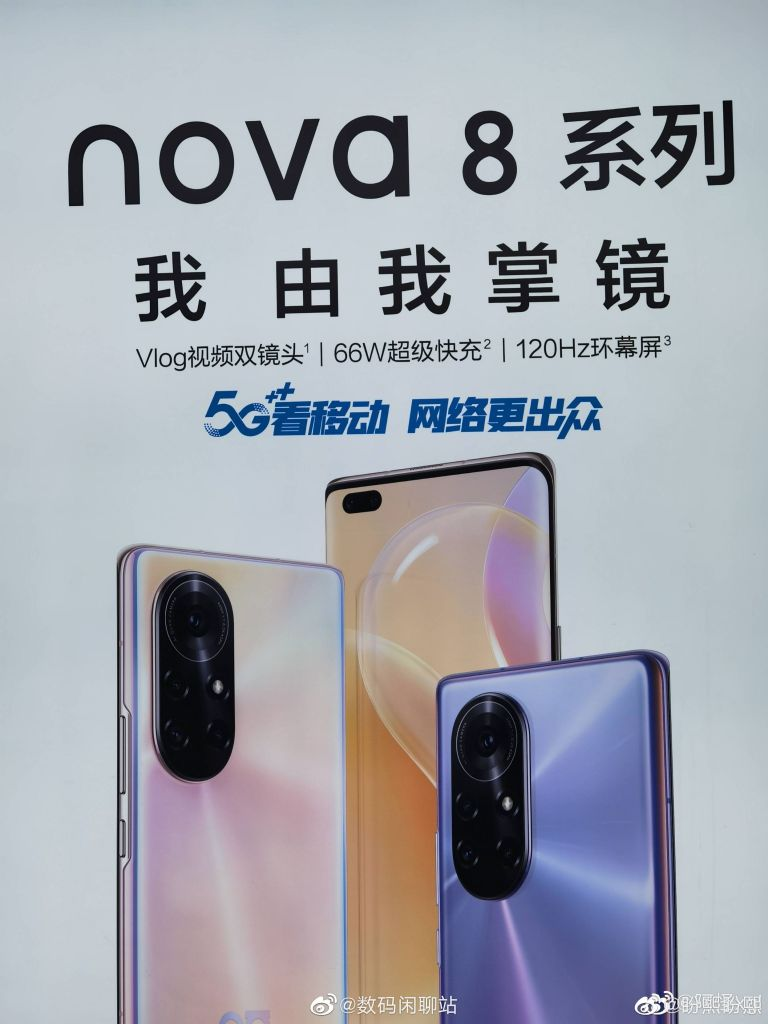 Huawei Nova 8 Series Official Poster Reveals Recognizable New Camera Layout 2