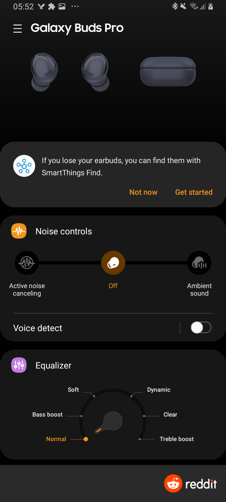 Samsung Galaxy Buds Pro features in App