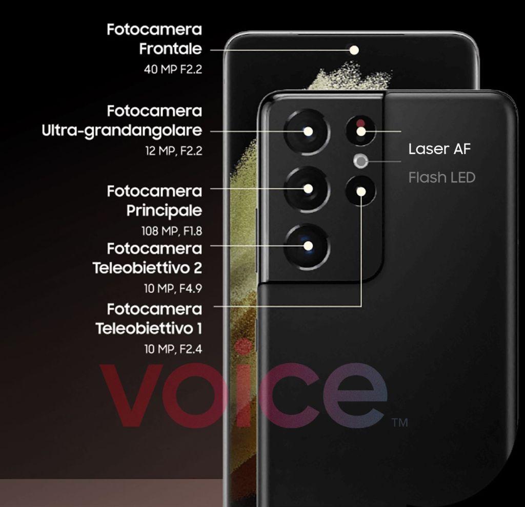 Samsung Galaxy S21 Ultra Camera Specifications