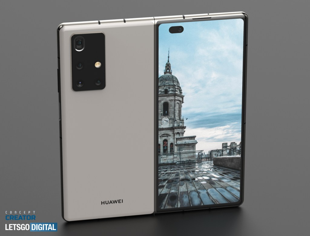 Huawei Mate X2 rendering based on Patent
