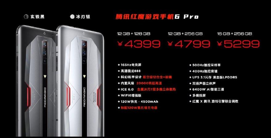 Tencent Red Magic 6 Pro Price