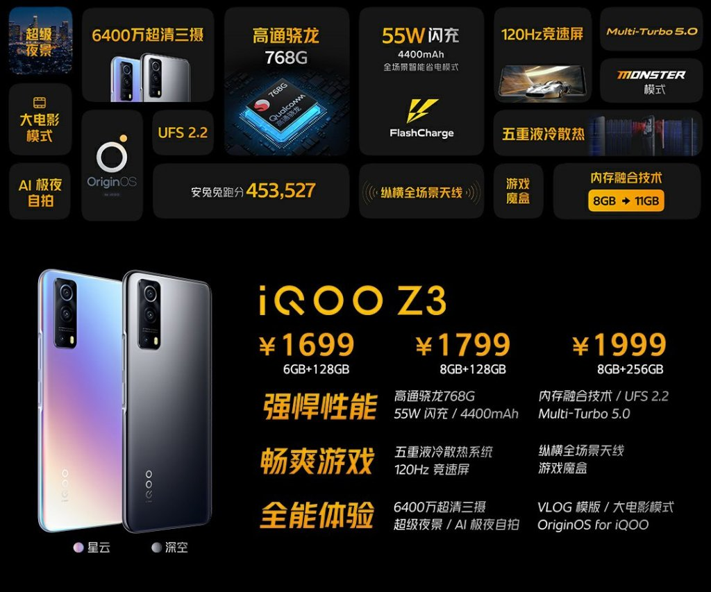 iQOO Z3 Price and Specifications