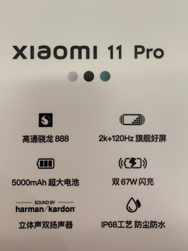 Xiaomi 11 Pro Poster Revealing full design and detail