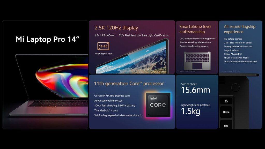Mi Laptop Pro 14 Specifications