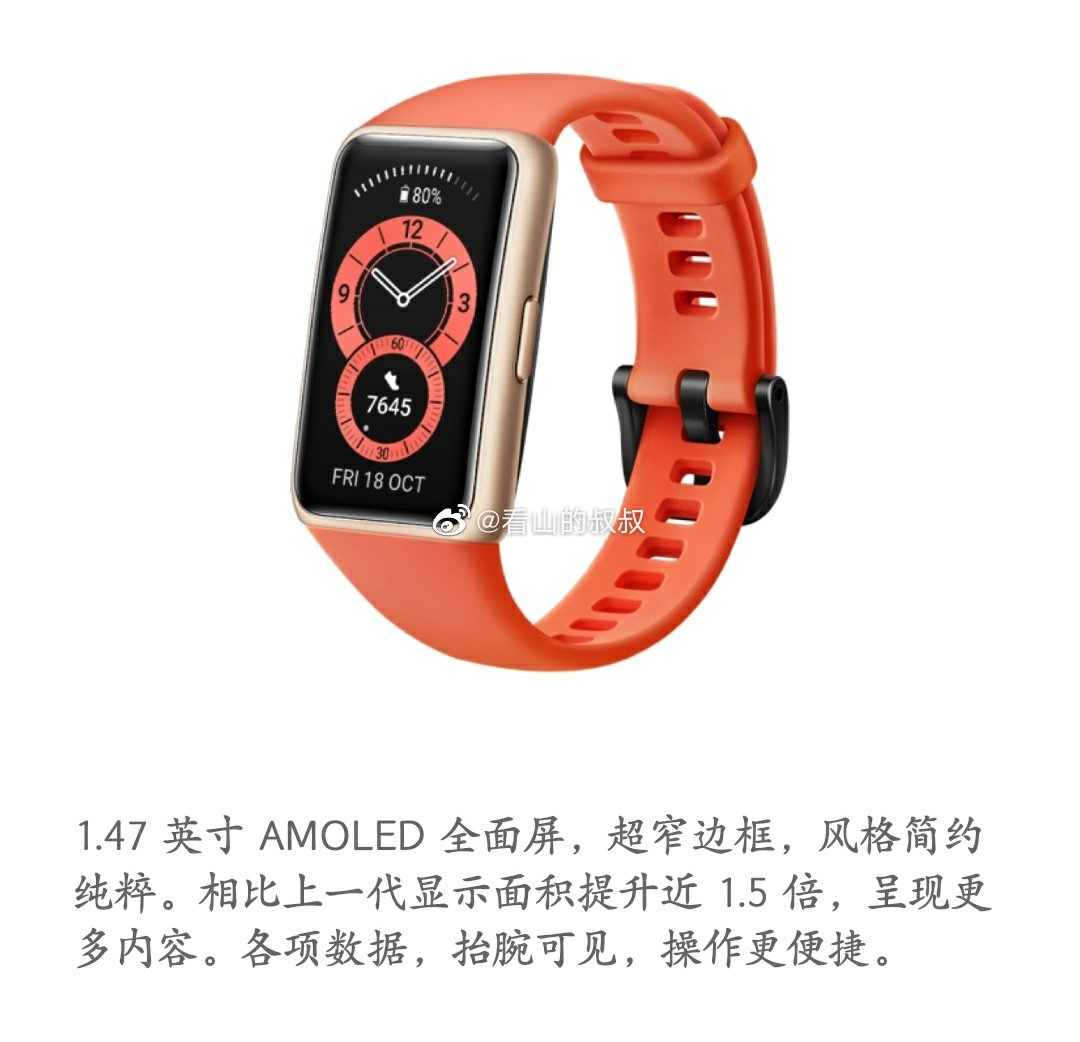 Promotional Material Of Huawei Band 6