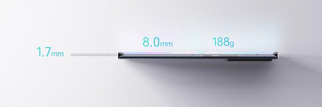 ZTE Axon30 Ultra Body Size
