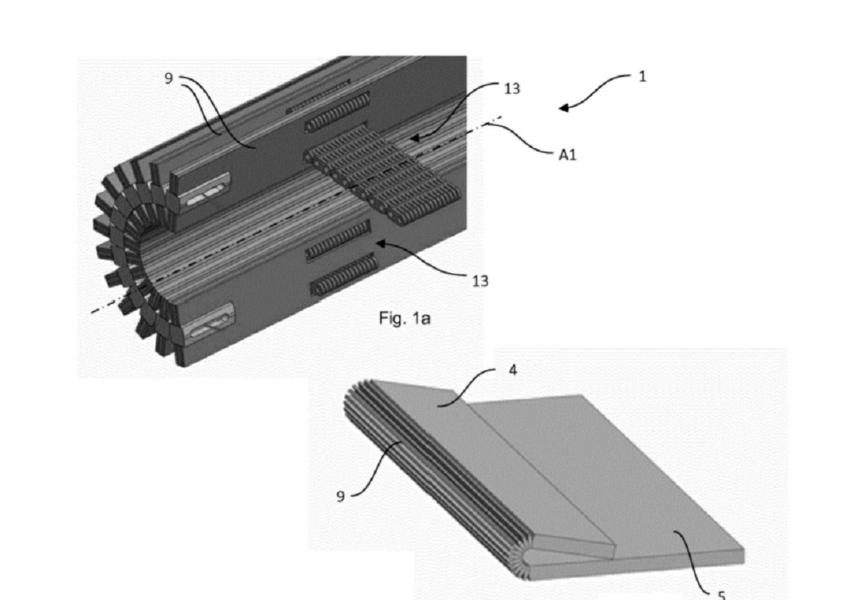 Huawei filed a patent for a hinge Design