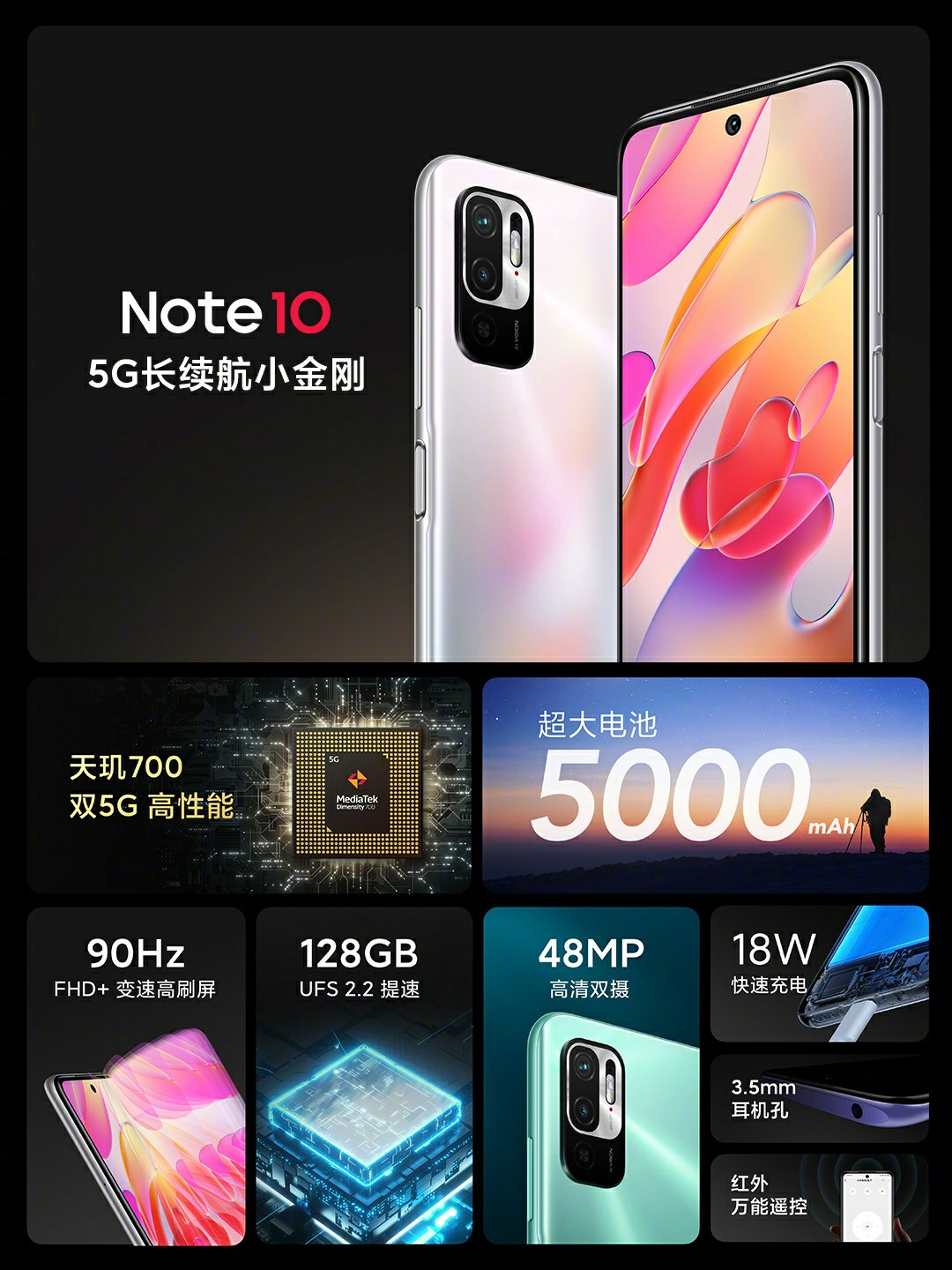 Redmi Note 10 5G Specifications