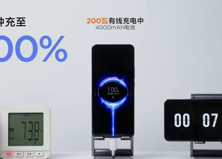 Xiaomi 200W Wired charging Speed