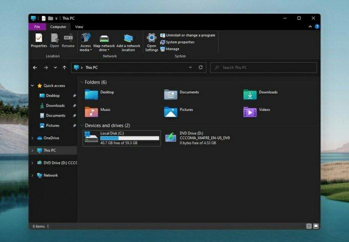 Windows 11 System Interface