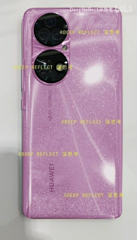 Dazzling Pink Color Huawei P50 Real Spy Photo Exposure